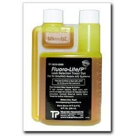 Show details of Tracerline Fluoro-Lite R-134a/PAG Bottled Dye, 8 oz. bottle.
