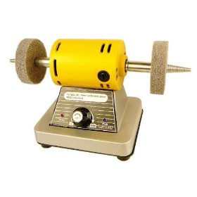 "Show details of Mini Bench Polisher & Buffer - Dual 3"" Buffing Wheels - Variable Speed."