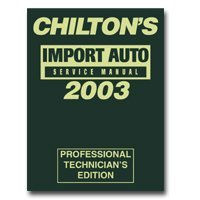 Show details of Chiltons Book Company CHN9357 1999 - 2003 Import Service Manual.