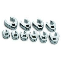 "Show details of 10 Piece 3/8"""" Drive SAE Flare Nut Crowfoot Wrench Set."