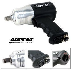 Show details of AIRCAT 1/2 inch Twin Hammer 1000-FT-LB Air Impact Wrench.