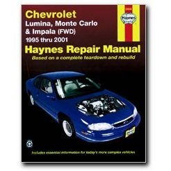 Show details of Haynes Chevrolet Lumina Monte Carlo and Impala (FWD) (95 - 03) Manual.