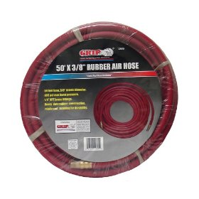 "Show details of Grip 50' x 3/8"""" Rubber Air Hose."