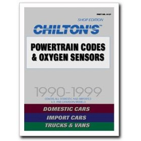 Show details of Chilton Quick Reference Manual - Powertrain Code and Oxygen Sensors 1990-1999.