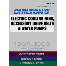 Show details of Chilton's (CHI9126) Quick Reference - Electric Cooling Fans, Accessory Drive Belts & Water Pumps; 1990 thru 1999.