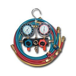 Show details of R134a Aluminum Block Manifold Gauge Set w/Hoses and Quick Couplers (MTN8220) Category: Manifold Gauges.