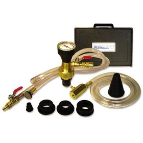 Show details of UView 550000 Airlift Cooling System Leak Checker and Airlock Purge Tool Kit.