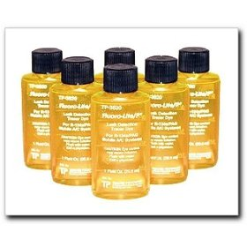 Show details of Tracerline Fluoro-Lite R-134a/PAG Bottled Dye, Case of (6) 1 oz. bottles.