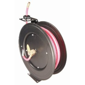 "Show details of Astro 3688 Auto Rewind Air Hose Reel w- 3/8"" x 50 Ft. Non-Conductive Hose: 250 PSI Air Hose Reel."