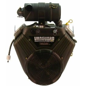 "Show details of Briggs-Stratton Engine<br>31hp Vanguard, Hor 1-1/8""X4"" Shaft, Oil Filter, LOS, ES, 20 Amp Alt, Cyclone Air Filter, 29HP Decal."