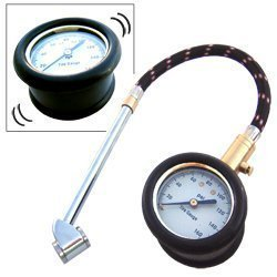 Show details of Heavy Duty Tire Gauge with Large Dial, Flex Hose.