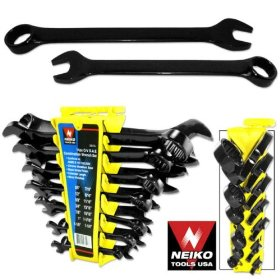 Show details of 14pc CrV Combination Wrench Tool Set, SAE Black Nickle Finished.
