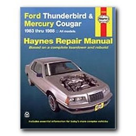 Show details of Haynes Ford Thunderbird and Mercury Cougar (83 - 88) Repair Manual.