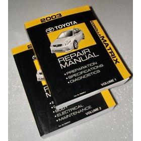 Show details of 2003 Toyota Corolla Matrix Repair Manuals.