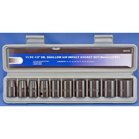 "Show details of Impact Socket Set 1/2"" Drive Metric 11 Pcs."