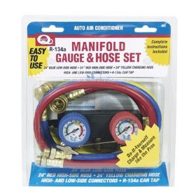 Show details of EF Products DIY Manifold Gauge and Hose Set.