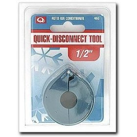 "Show details of EF Products Quick Disconnect Tool A/C Spring Lock Coupler 1/2"" Blue."