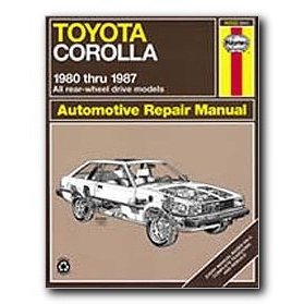 Show details of Haynes Toyota Corolla Rear-wheel drive (80 - 87) Repair Manual.