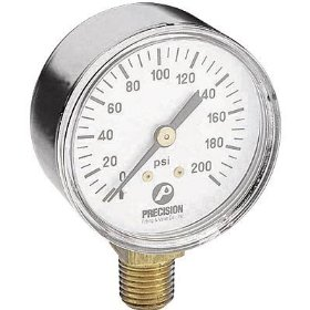 Show details of Northern Industrial Tools Air Pressure Gauge - 1/4in. Inlet, 200 PSI.