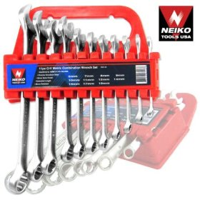 Show details of 11pc CrV Combination Wrench Tool Set, MM.