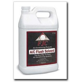 Show details of FJC A/C Flush Solvent gallon.