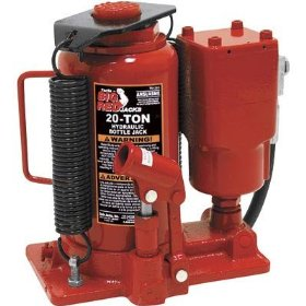 Show details of Torin Air/Hydraulic Bottle Jack - 20-Ton, Model# TA92006.