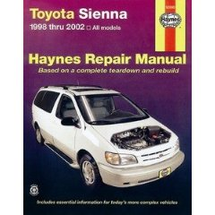 Show details of HAYNES REPAIR MANUAL for TOYOTA SIENNA NUMBER 92090 (Paperback).