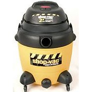Show details of Shop Vac Two-Stage 2.5 HP, 12 gallon poly tank w/ drain.