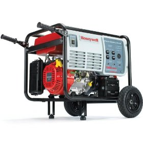 Show details of Honeywell HW7500E 9375 Watt 15 HP 420cc OHV Portable Gas Powered Home Generator With Electric Start (Non-CARB Compliant).