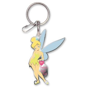 "Show details of Tinker Bell ""Perfect Little Flirt"" Enamel Key Chain."