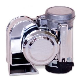 Show details of Chrome Stebel Nautilus Compact Motorcycle Air Horn - Loud.