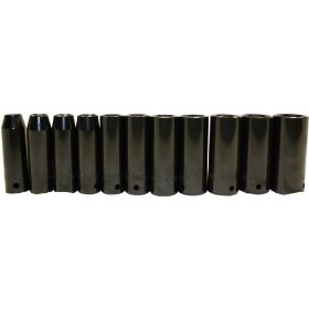 Show details of Porter-Cable PTA9 1/2-Inch SAE Deep Impact Socket Set, 12-Piece including case.