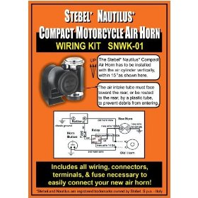 Show details of Wiring Kit for Stebel Nautilus Compact Motorcycle Air Horn.