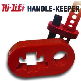 Show details of Hi-Lift Jack HKR Red Polyurethane Handle Keeper For Hi Lift Jacks.