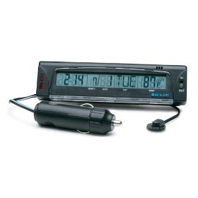 "Show details of 12V, Electronic Thermometer, Indoor/Outdoor, with Ice Alert & Clock-1 """"AAA"""" Included""."