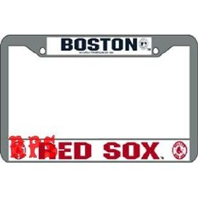 Show details of Boston Red Sox MLB Chrome License Plate Frame.
