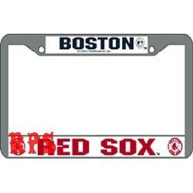 Show details of Boston Red Sox MLB Chrome License Plate Frame.