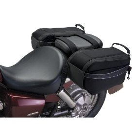 Show details of Motogear Motorcycle Saddle Bags.