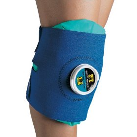 Show details of Body Glove 90145 Deluxe Ice Pack Knee and Elbow Wrap, Blue, Unisize.