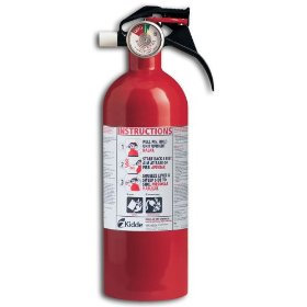 Show details of Kidde FA5B Basic Fire Extinguisher with Pressure Gauge.