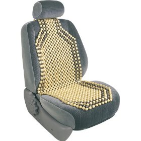 Show details of Elegant 03715-00 Beaded Cushion Wood Seat Cover.