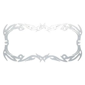 Show details of Cruiser Tribal License Plate Frame- Stainless Steel.