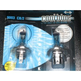 Show details of Sylvania 9003 Cool Blue Halogen Headlight - Pack of 2 Bulbs.