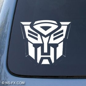 Show details of TRANSFORMERS AUTOBOT - Car, Truck, Notebook, Vinyl Decal Sticker #1036 | Vinyl Color: White.