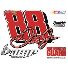 Show details of Dale Earnhardt Jr 88 Ultra Decal Cling.