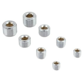 Show details of Spectre 60183 Chrome Pipe Plug Set - Set of 8.