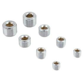 Show details of Spectre 60183 Chrome Pipe Plug Set - Set of 8.