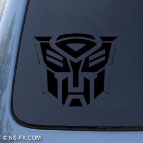 Show details of TRANSFORMERS AUTOBOT - Car, Truck, Notebook, Vinyl Decal Sticker #1036 | Vinyl Color: Black.