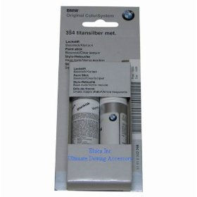 Show details of BMW Genuine Titanium Silver Metallic Touch-up Paint Code 354.