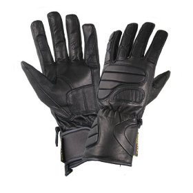 Show details of Men's Black Leather Premium Padded Riding Gloves - Size : Medium.